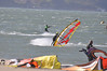 Crissy Field 25mph April 29th 2010 : Crissy Field Windsurfers San Francisco April 29th 2010